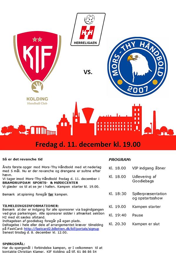 KIF Kolding vs MTH 11-12-2020 sponsor in