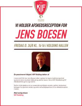 Jens Boesen afskedsreception i KIF