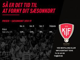 Flere køber sæsonkort til KIF's kampe