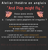 """Atelier théâtre en anglais """"And pigs might fly..."""""""