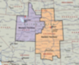 Map of SCG Enterprises, Inc. Territory