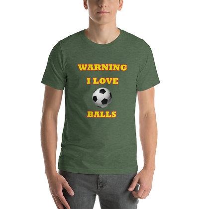 T-shirt   Warning - I Love Balls