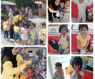 Anak Belajar Mengenal Proses Bertransaksi dan Mengenal Lingkungan Sekitar
