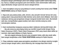 Protokol COVID-19 di Pepito Daycare