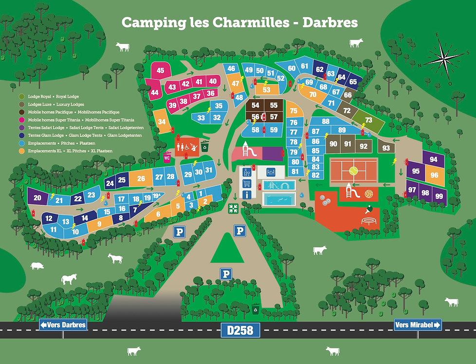 Camping les Charmilles Ardeche Plan 2021