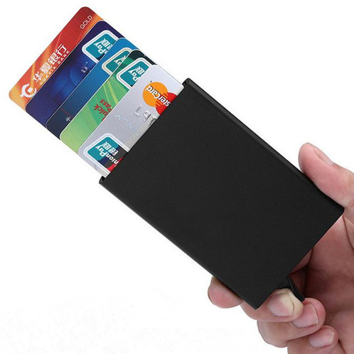 Automatic pop up metal credit card holder slim and sturdy designed to hold up to 6 credit cardsid card or for business cards keep your cards clean and neat and look professional reheart Image collections