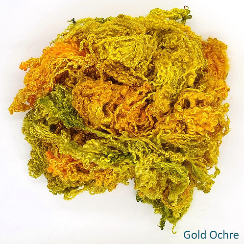Hand-dyed Bluefaced Leicester Fleece 20g packs - Gold Ochre Mix