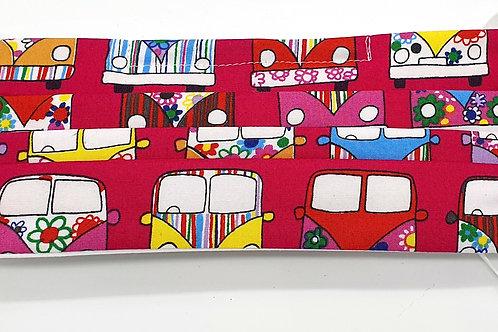 Cotton Face Mask - Pink Camper Vans