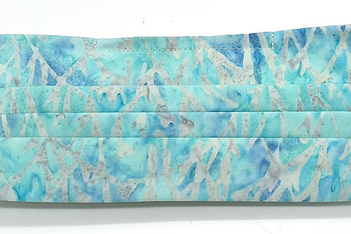 Cotton Face Mask - Light Turquoise Batik