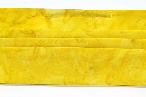 Cotton Face Mask - Yellow Batik
