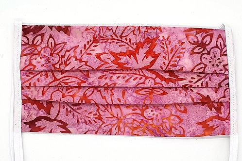 Cotton Face Mask - Pink Floral Batik