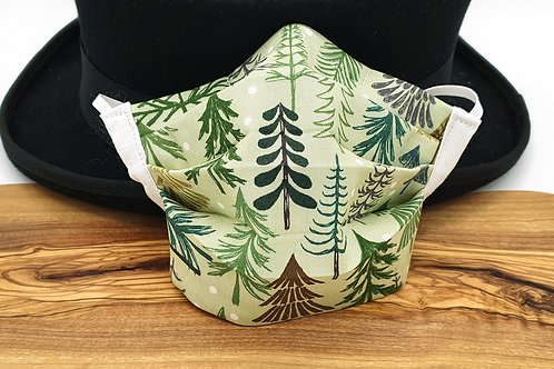 Cotton Face Mask - Christmas Forest