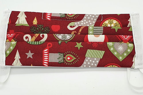 Cotton Face Mask - Christmas Stockings