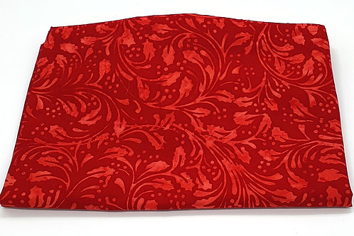 Cotton Face Mask - Red Foliage
