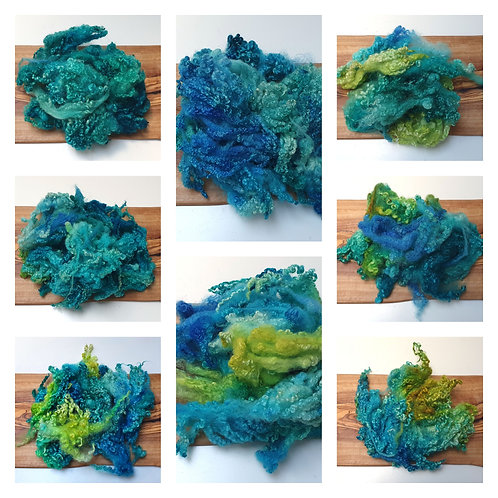 Hand-dyed Bluefaced Leicester Fleece 20g packs - Lagoon