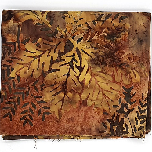 Cotton Face Mask - Brown Leaves
