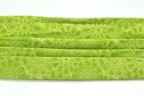 Cotton Face Mask - Lime Green