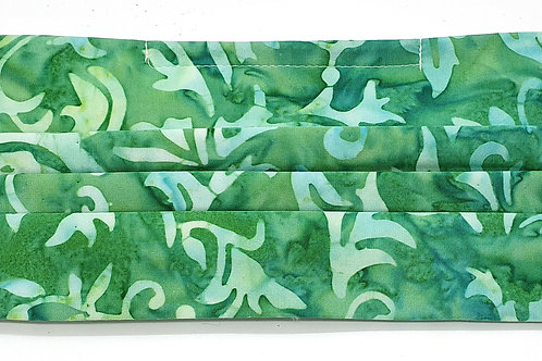 Cotton Face Mask - Green Batik