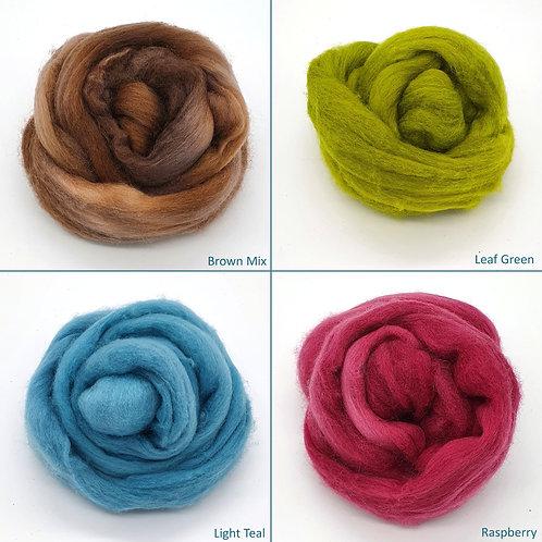 Hand-dyed Merino Mini-tops for Felting, 25g
