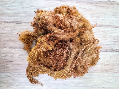 Hand-dyed Bluefaced Leicester Fleece 10g packs - Ginger