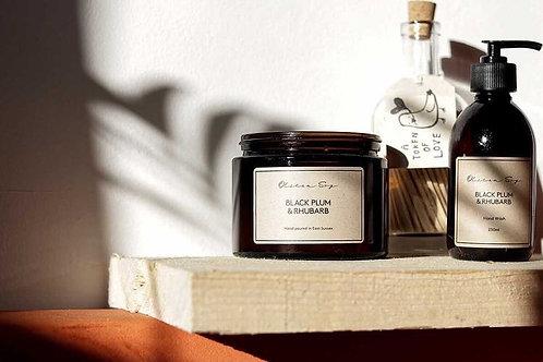 Black Plum & Rhubarb - Large Amber Jar