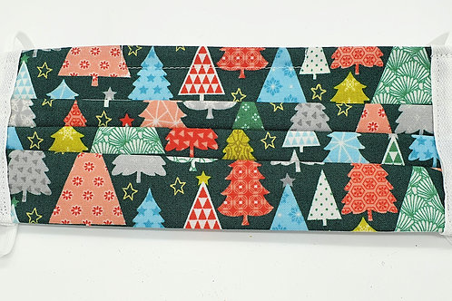 Cotton Face Mask - Christmas Trees