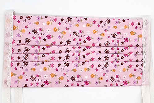 Cotton Face Mask - Pink Floral