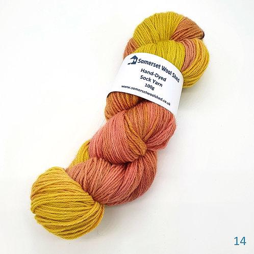 Merino, Alpaca and Nylon Sock Yarn 100g