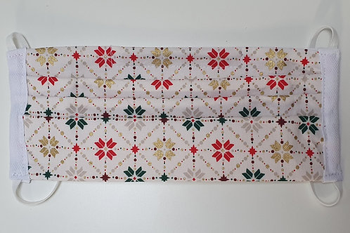 Cotton Face Mask - White Scandi Tile