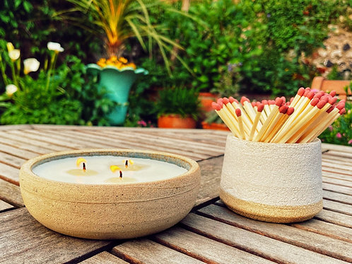 Outdoor  Ceramic Candle