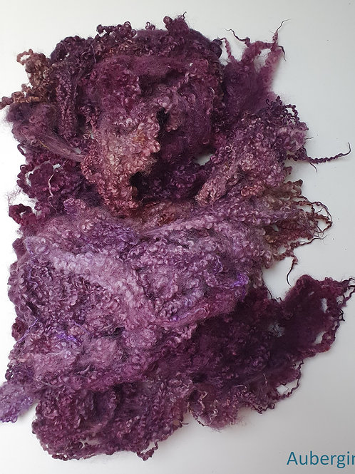 Hand-dyed Bluefaced Leicester Fleece 10g packs - Aubergine