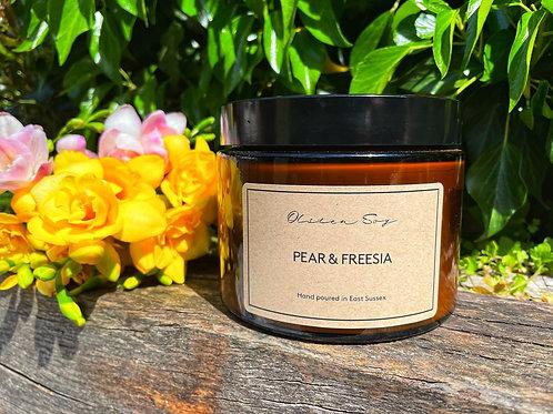 Pear & Freesia - Large Amber Jar