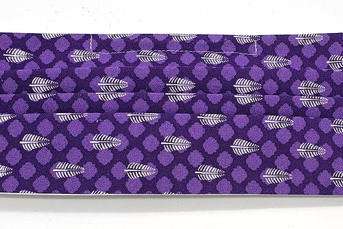 Cotton Face Mask - Purple Tile