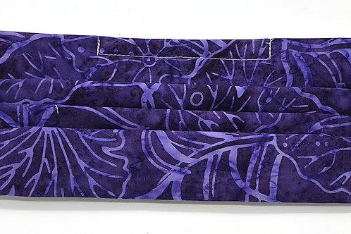 Cotton Face Mask - Purple Batik Foliage