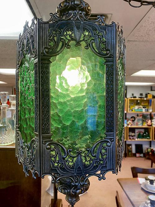 Green Swag Lamp