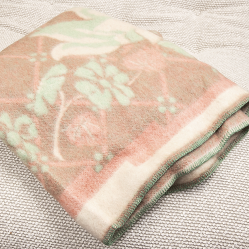 Red/Green Pure Wool Reversible Blanket by Orr Health