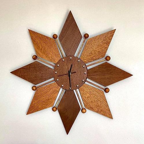 Wooden Starburst Clock
