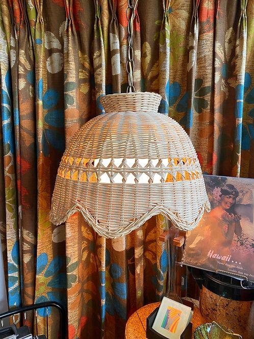 Wicker Swag Lamp