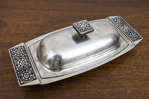 Embellished Stainless Butter Dish