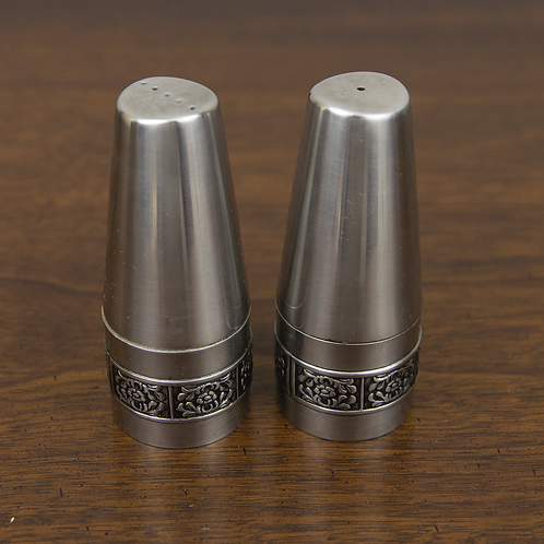 Embellished Stainless Salt and Pepper Set