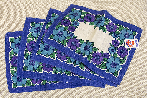 Floral Printed Linen Placemats