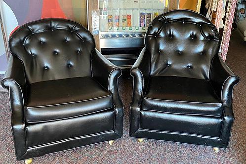 Black Vinyl Kroehler Club Chair
