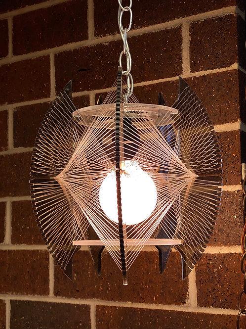 Lucite String Art Swag Lamp