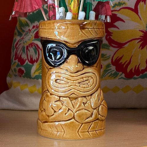 Cool Dude Tiki God Mug Glass