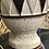 Thumbnail: Ceramic and wood Diamond Table Lamp