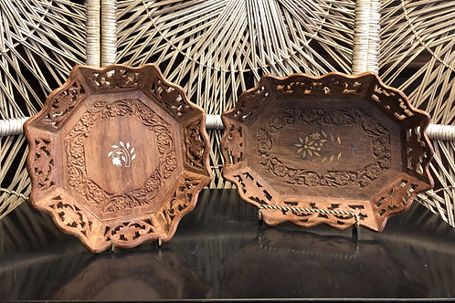 Carved Indian Wooden Tray