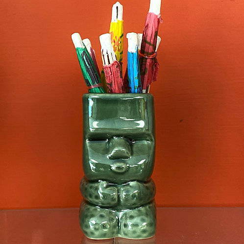 Green Tiki God Mug Shot Glass