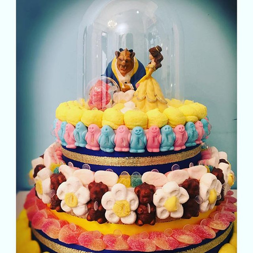 Gâteau Thème la belle et la bête