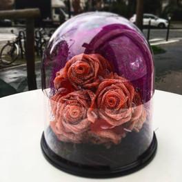 Cloche de roses