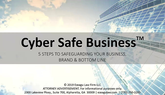 Cyber Safe Business Masterclass - 5 Steps to Safeguarding Your Business, Brand & Bottom Line